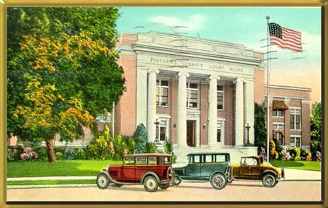 A postcard of the courthouse circa 1930.