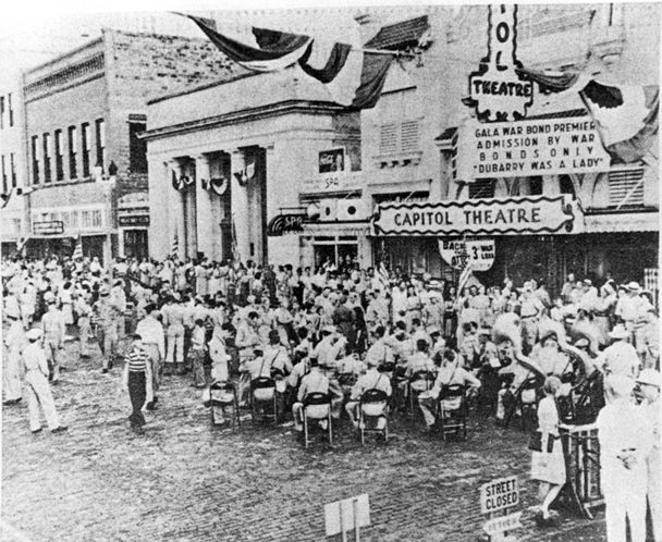 The theater during a 1943 war bond rally
