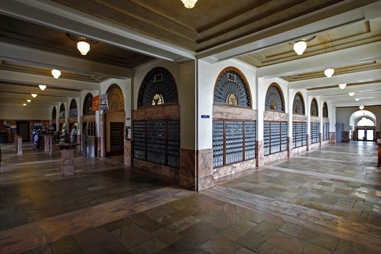 The interior of the post office is worth a quick look inside.