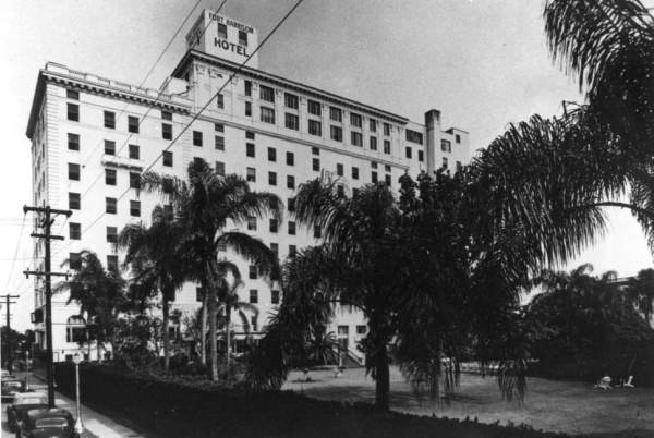 The Fort Harrison Hotel in 1926. Image from the Louise Frisbie Collection, Digitized by Florida Memory.