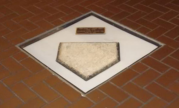 The original home plate from Forbes Field