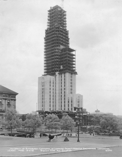 The Cathedral during construction.