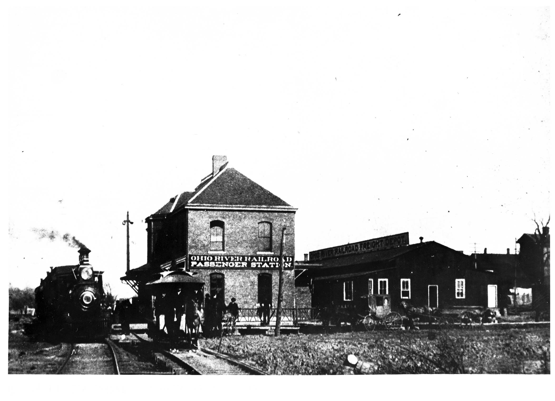 The B&O Depot in 1892. Image courtesy of Marshall University Special Collections