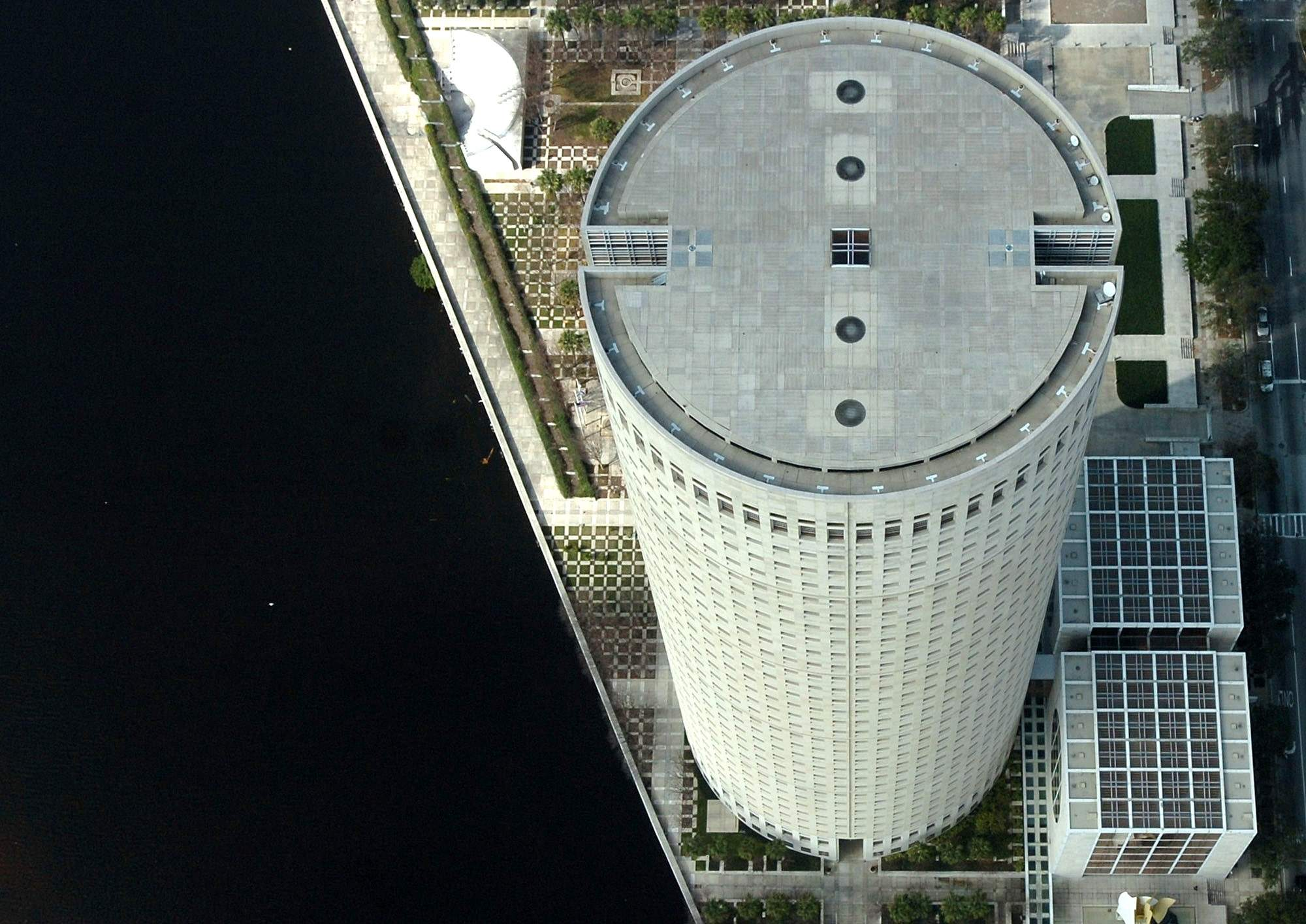 An aerial view of the tower.