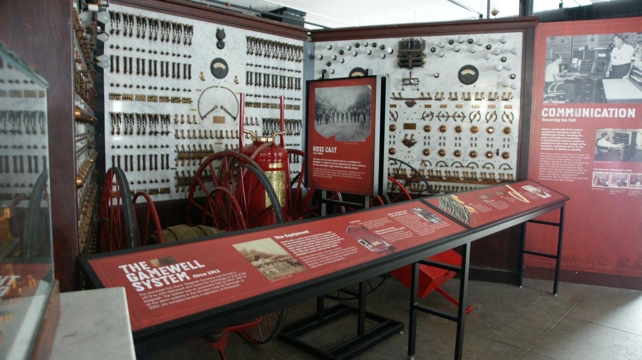 This exhibit reveals the operation of the Gamewell Alarm panel.