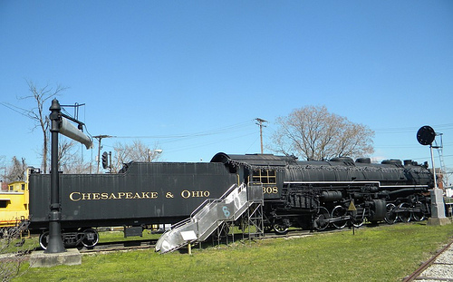 The C&O 1308 located at the outdoor museum