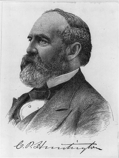 Collis P. Huntington (1821-1900) was one of the great railroad tycoons of the nineteenth century. Image courtesy of the Library of Congress.