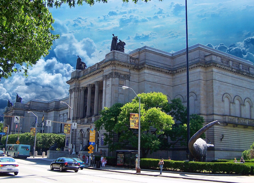 The exterior of the Carnegie Museum of Natural History