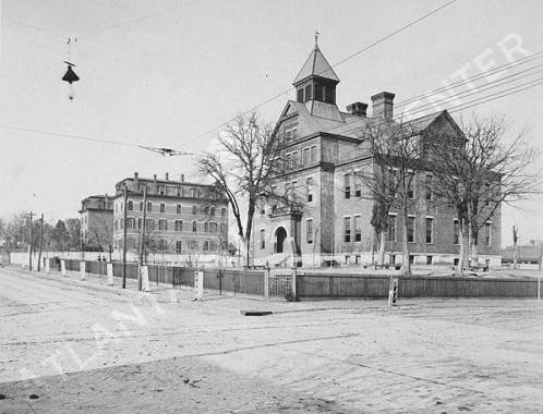 Morris Brown College and Boulevard School at the corner of Boulevard and Houston Street