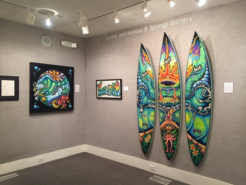 More of Drew Brophy's work located in the Louise and Holmes B. Springs Gallery.