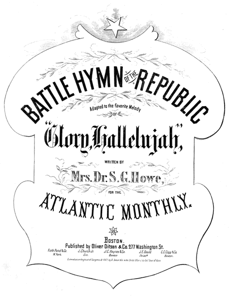 """The cover of 1862 sheet music of the """"Battle Hymn of the Republic"""""""