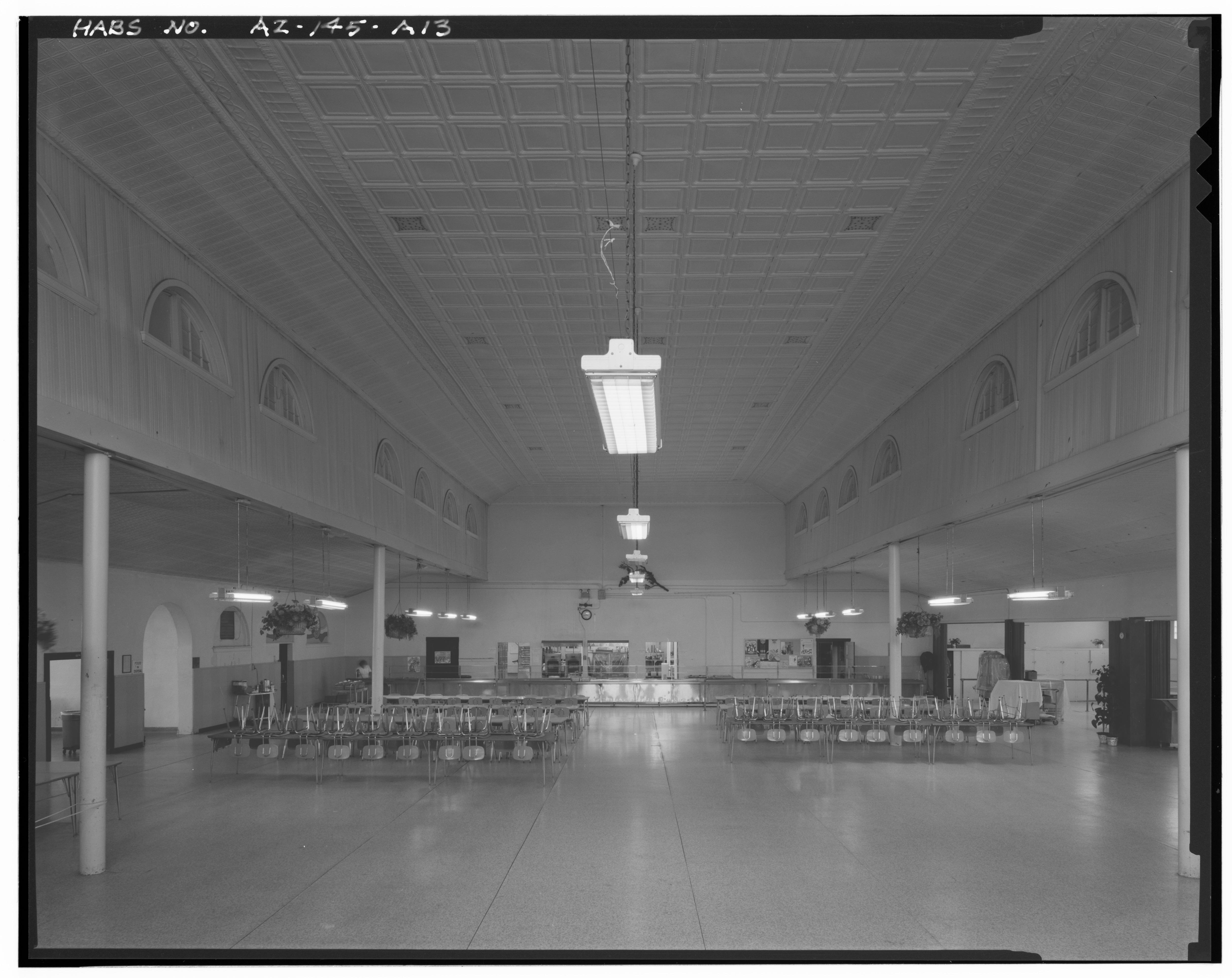Interior of Dining Hall, built 1902