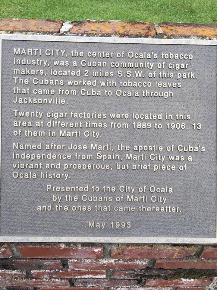 Commemorative Plaque Honoring Marti City Historical Area