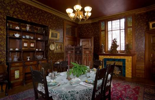 The Dining Room, site of many dinner parties which the famous and notable of the times attended.