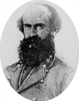 Confederate General William E. Jones, commander during the raid's presence in Bridgeport.