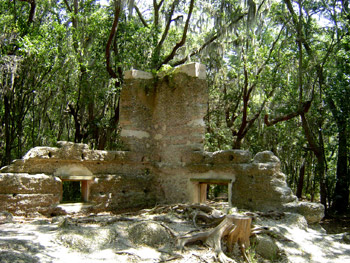 These are some of the remains of the Stoney-Baynard house, which was built around 1793.