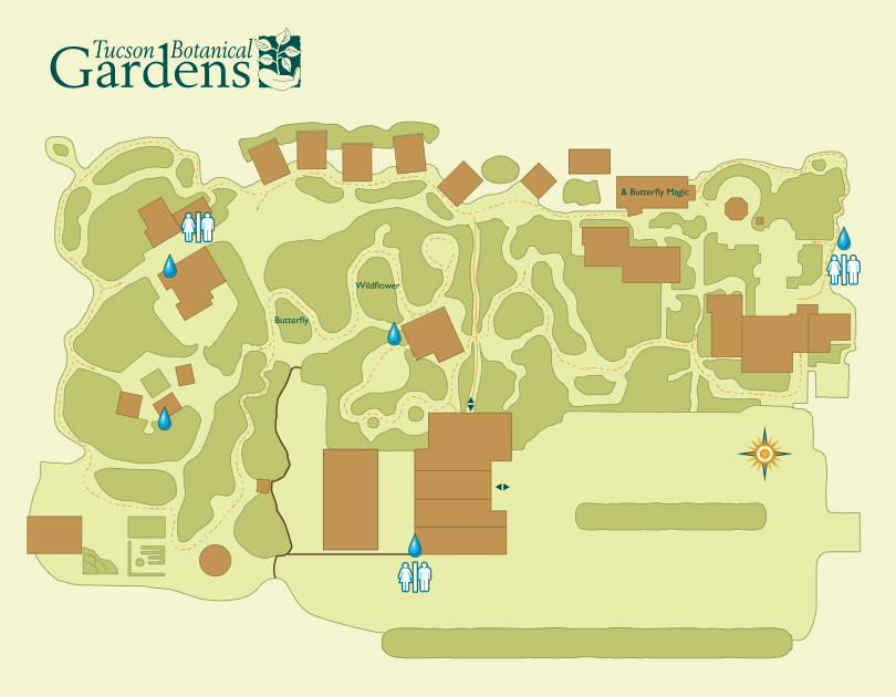 Map of the Gardens. (Tap image to enlarge)