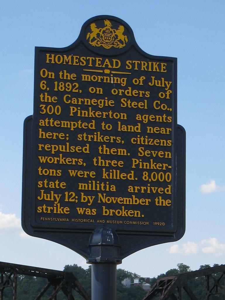 The Homestead Strike - Historical Marker