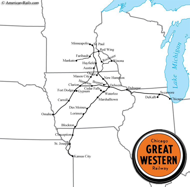 CGWR Railway Map