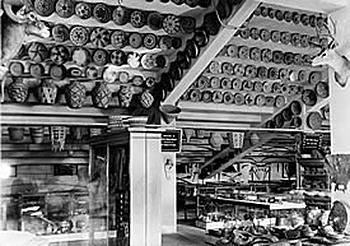 Arizona State Museum display in lower regions of Arizona Stadium, 1930–35.