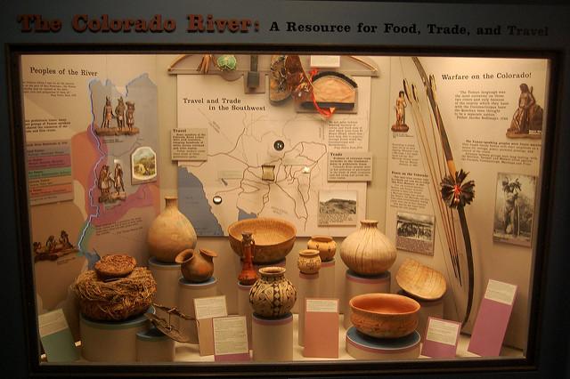 Museum display case.