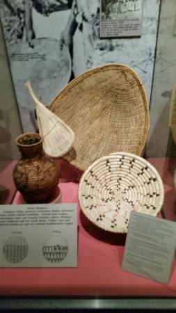 Museum Display case featuring basketry.