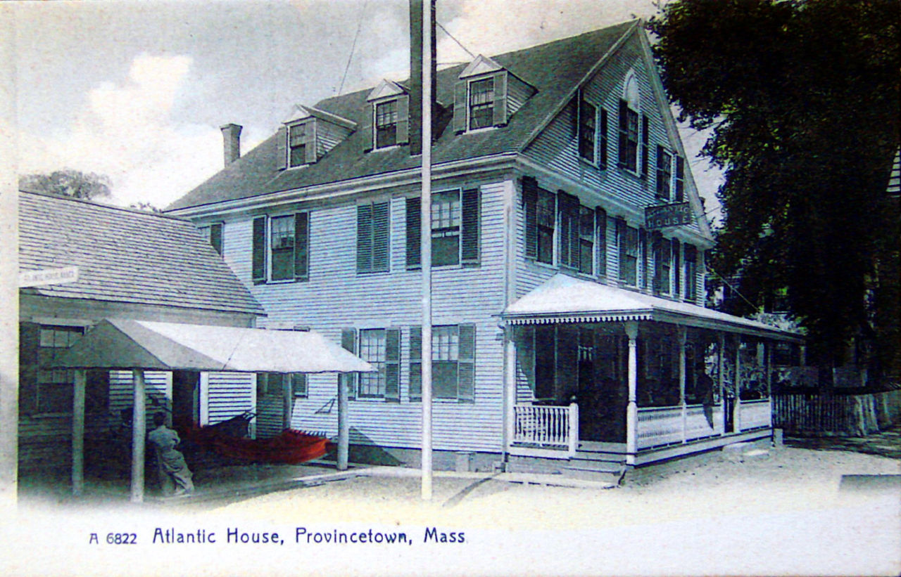 This is a post card circa 1905 that also depicts the facade of the A-House. The building has not undergone many physical changes since it was built in 1798.