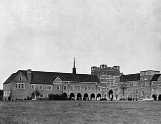 Exterior of North Court in 1917.
