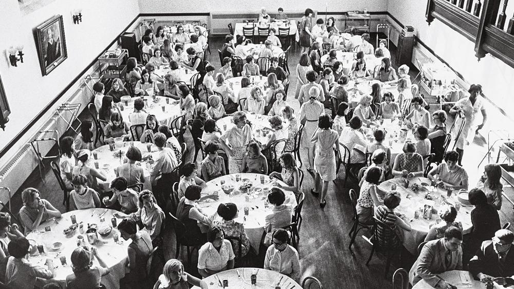 Students in the refectory in 1961.