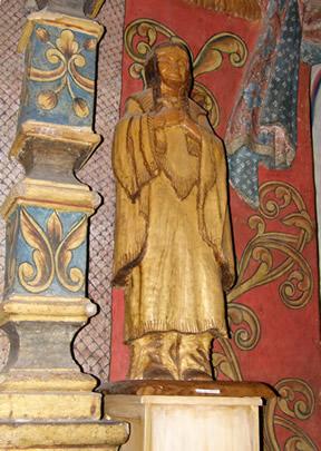 Wooden statue of Saint Kateri Tekakwitha, the first Roman Catholic Native American saint.