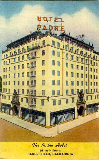 Historic postcard of Hotel Padre