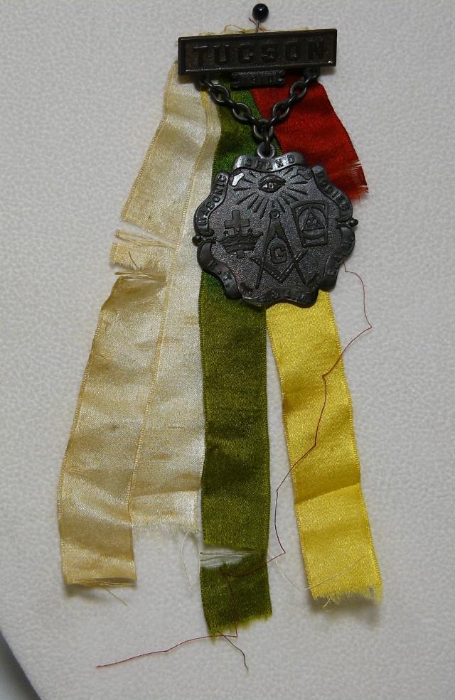 Masonic Lodge Badges & Ribbons worn at the Synagogue's Groundbreaking Celebration, 1910.