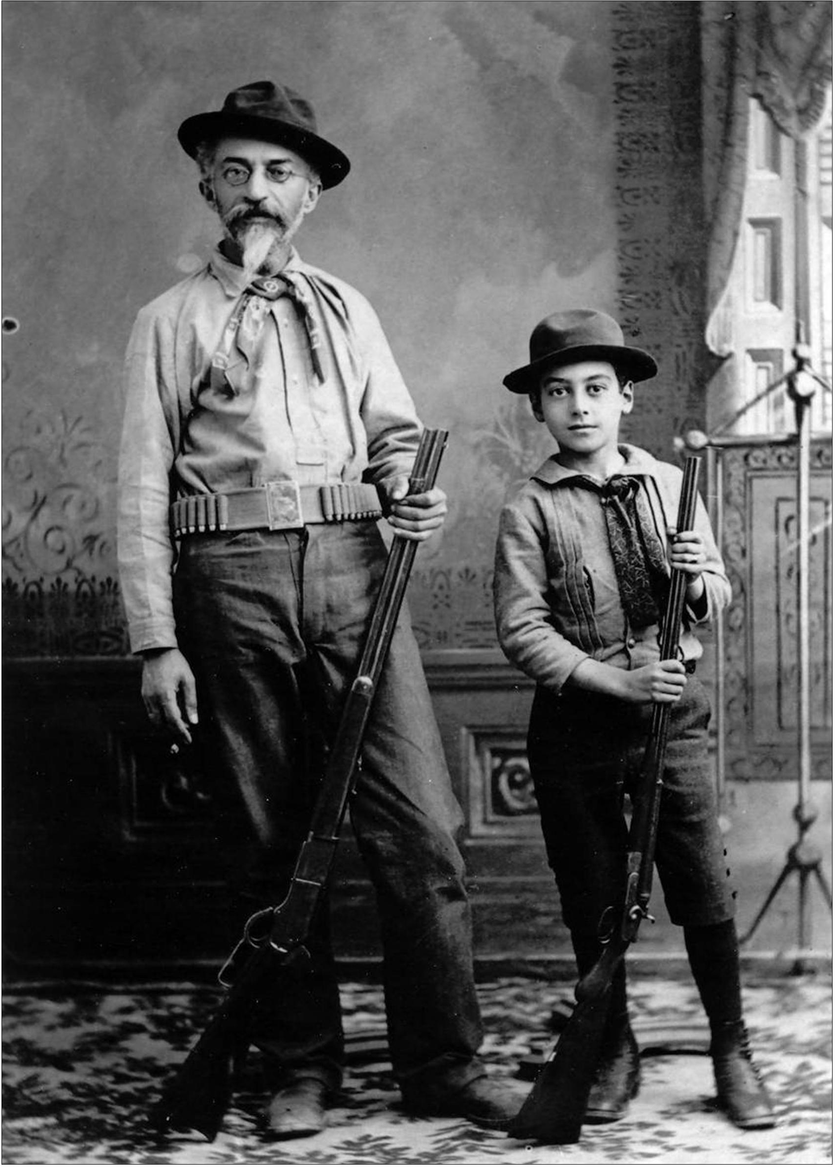 First Jewish Mayor of Tucson, Charles Strauss and his son, n.d.