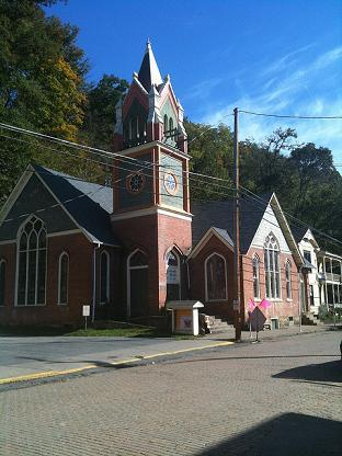 This historic church was completed in 1886 and is now home to Landmark Studio for the Arts.