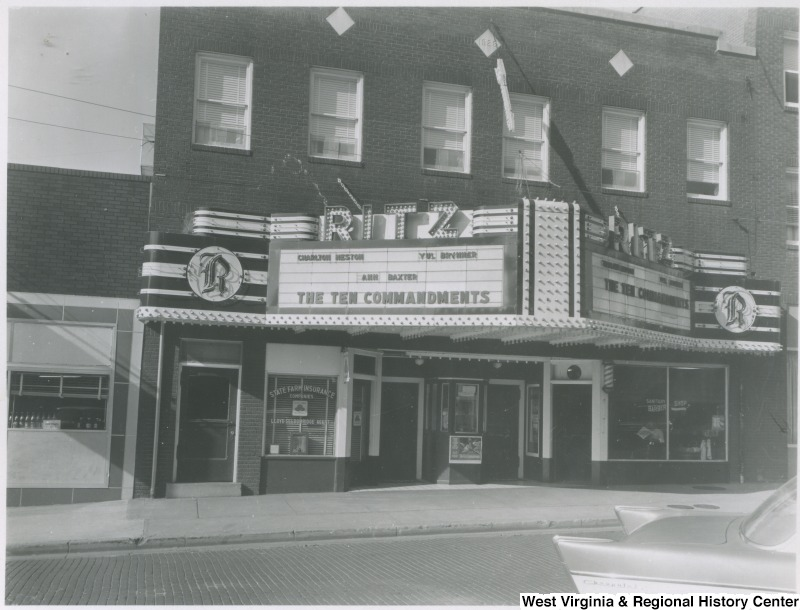 Ritz Theater ca. 1960 (from West Virginia & Regional History Center)