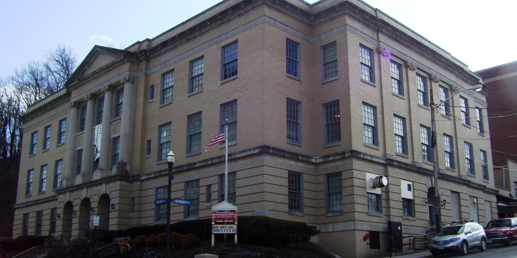 This city-owned Arts Center is an adaptive reuse of Bluefield's Old Municipal Building.