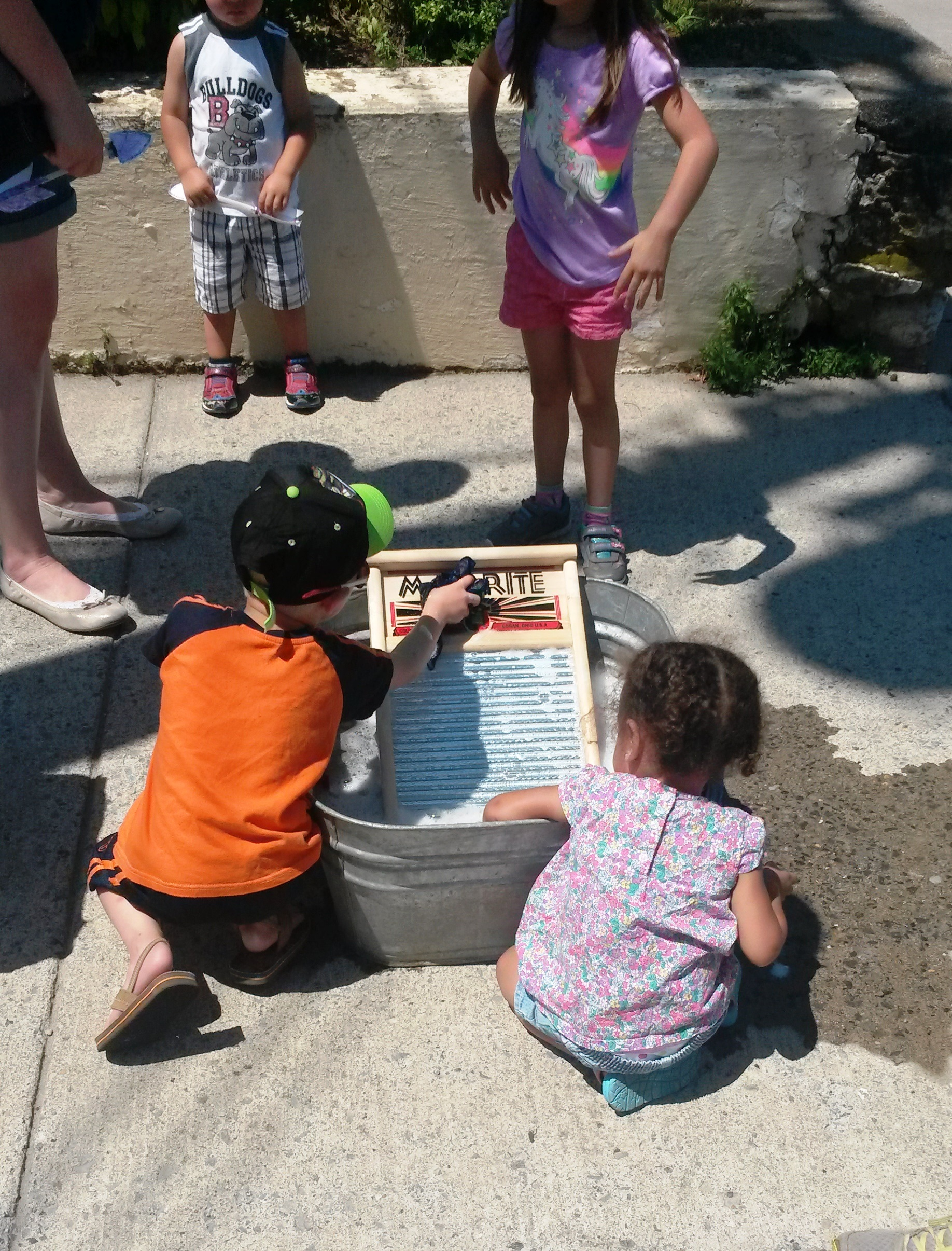 Children Enjoying Museum's Booth at 2016 West Virginia Fest, Downtown Charles Town
