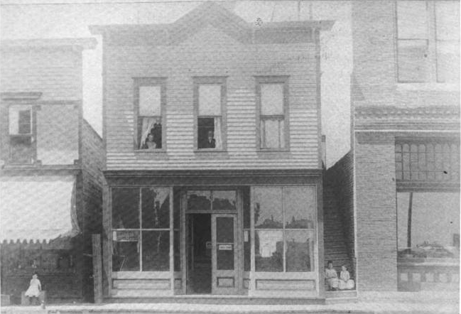 Baum's Bazaar building taken sometime in 1888