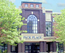 Pack Place includes a theater, cultural center, art museum, and science museum.