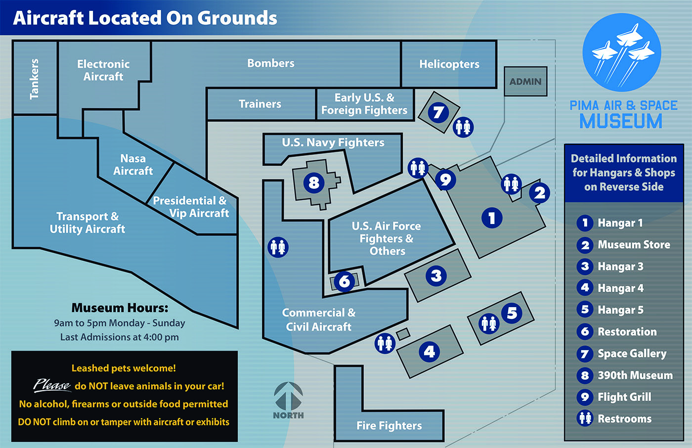Aircraft located on the grounds (Map)