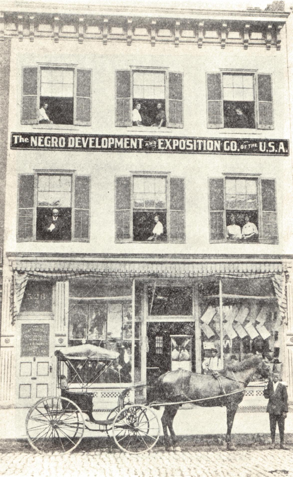 African Americans created dozens of exhibitions dedicated to preserving black history and culture during the late 19th and early 20th century. This exhibit was part of the 1907 Jamestown Exposition.
