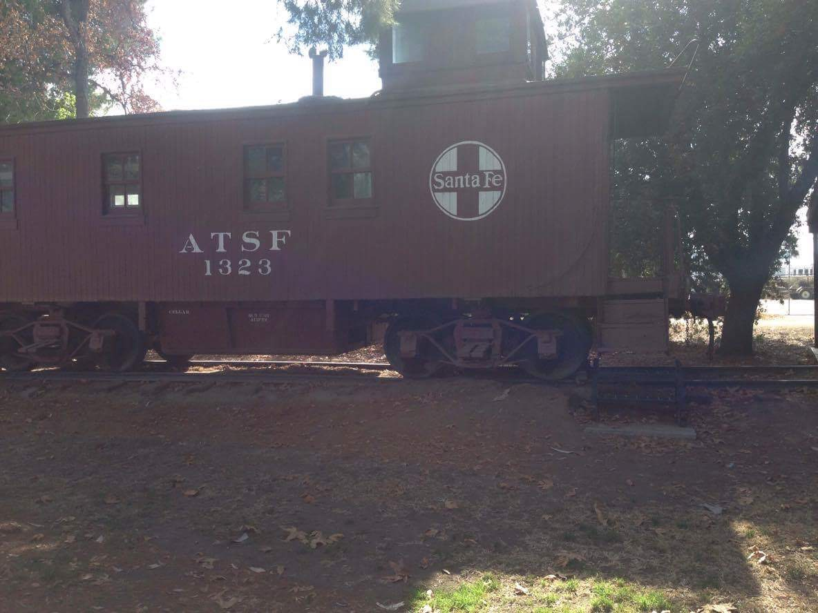 This 1923 caboose served the Santa Fe Railroad in the southwestern states. The Santa Fe Railroad donated the caboose in 1956.