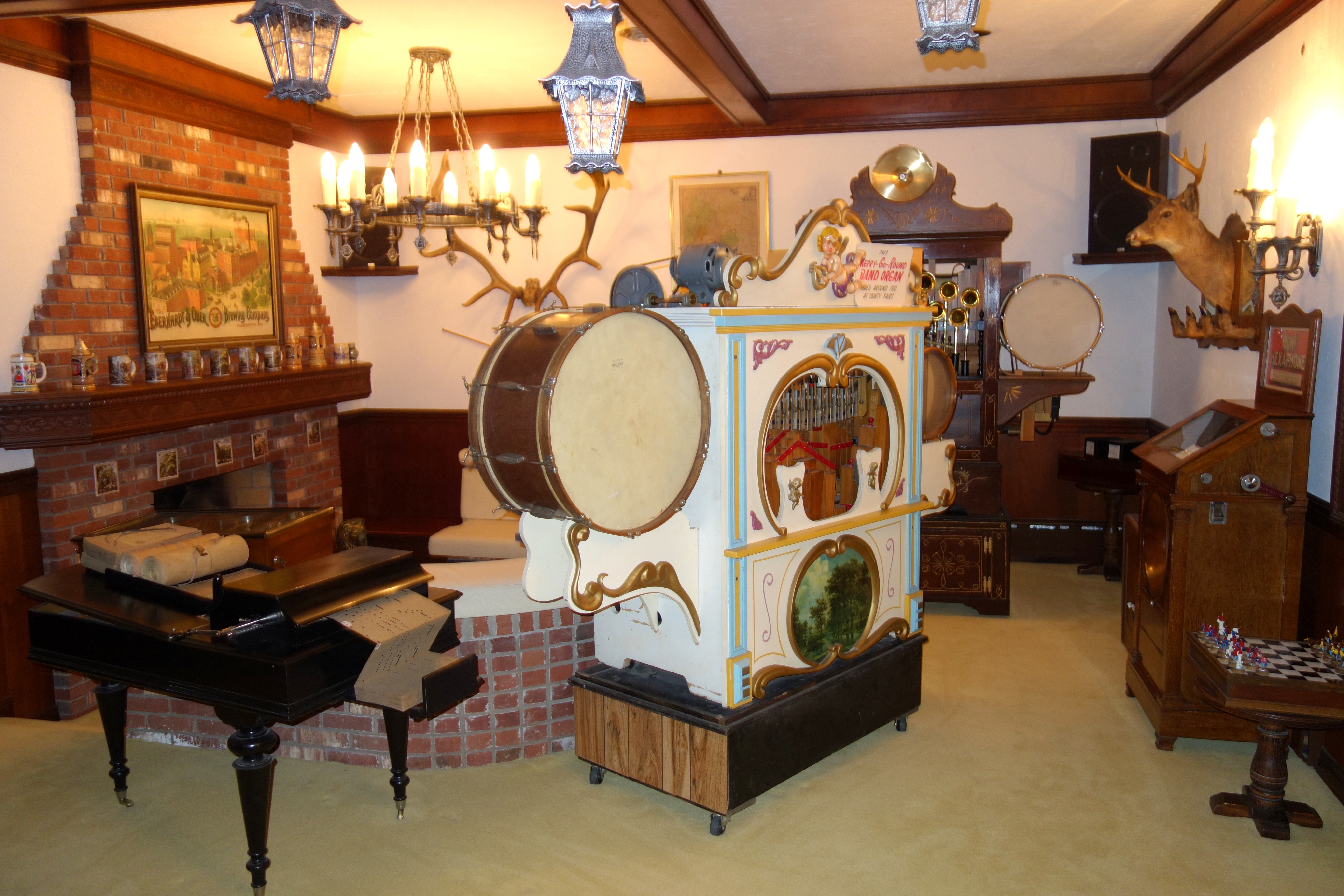 Some of Brown's music machines on display.