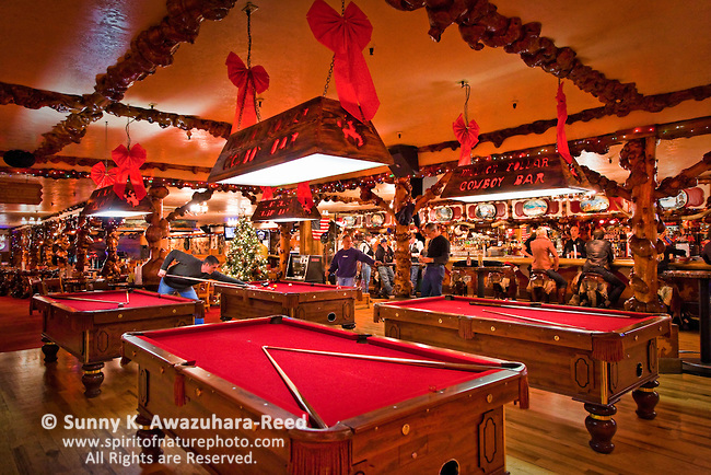 Pool tables at the Million Dollar Cowboy