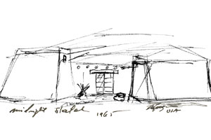 DeGrazia's Sketch of the Gallery in the Sun