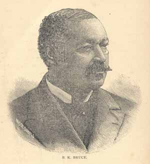 This image of a slightly darker B. K. Bruce comes from an 1890 book by an African American author.