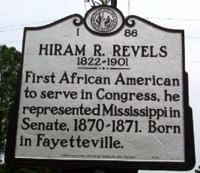 Historical Marker for Hiram Revels.
