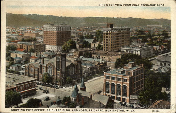 Postcard of the view from the Coal Exchange Building