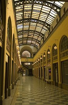 The inside of the renovated Galleria, which retains its glass ceiling and open arcade design. Developers hope the renovated building will become a center of economic development and a desired residential property.