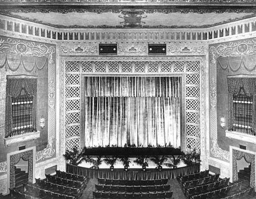 Historic interior of The Rialto Theatre
